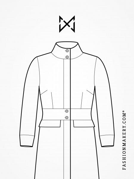 Grundschnittkonstruktion Mantel