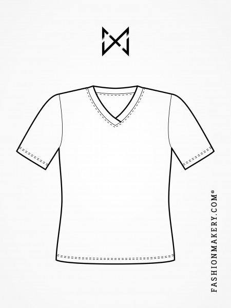 Grundschnittkonstruktion T-Shirt