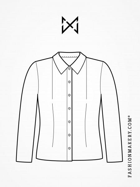 Grundschnittkonstruktion Bluse/Körper mit Abnäher