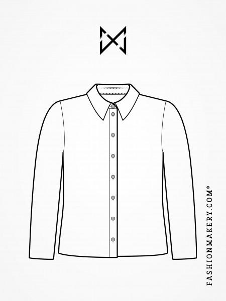 Grundschnittkonstruktion Bluse/Körper ohne Abnäher