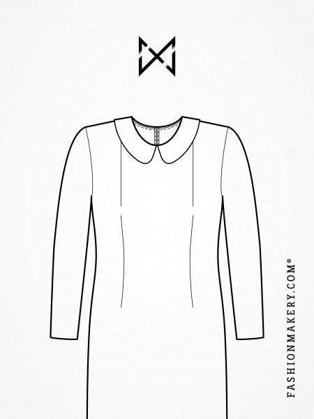 Grundschnittkonstruktion Kleid mit Abnäher