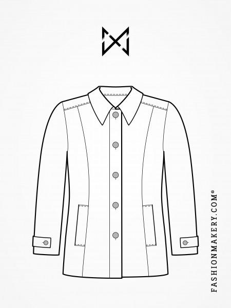 Grundschnittkonstruktion Jacke