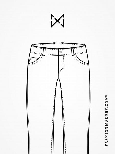 Grundschnittkonstruktion Jeans