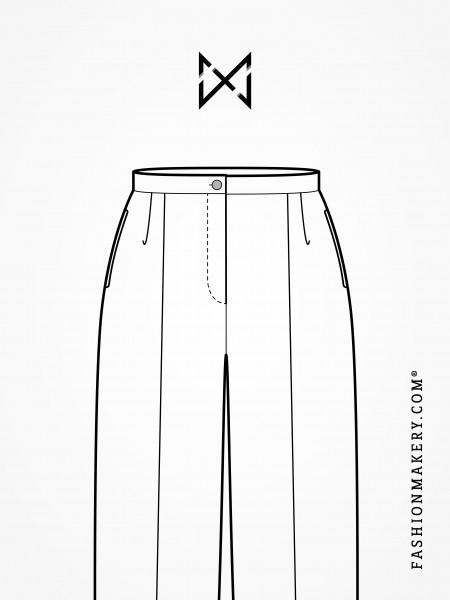 Grundschnittkonstruktion Bundfaltenhose