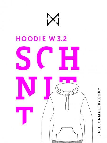 Schnittmuster Hoodie W 3.2 (Gr. 34-46)